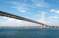 Akashi Kaikyo Bridge View from Water Level