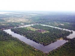 Aerail View of Angkor Wat
