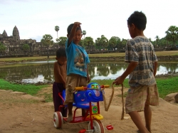 Cute Kids Near Angkor Wat