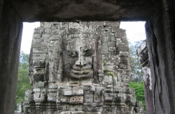 Enigmatic Stone Faces Starring at You at Bayon Temple, Angkor Thom