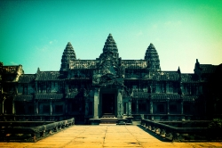 Interesting Color View of Angkor Wat