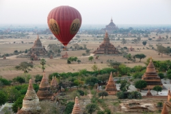 Balloon Over The Pagodas