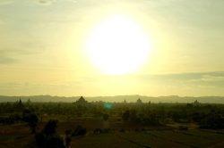 Sunset of Bagan Area