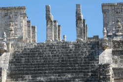 Details of the Warriors Temple Showing Chac Mool at Chichen Itza