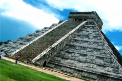 Diagonal Shot of Chichen Itza