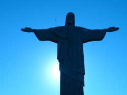 Nice Blue Background Behind the Statue of Christ The Redeemer