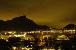 Night Shot of Rio and Corcovado Mountain