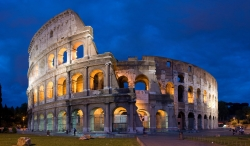 The Colosseum of Rome at Night
