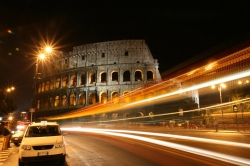 Active Shot of the Colosseum at Night