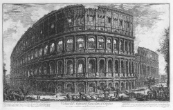 Colliseum in a 1757 Engraving by Giovanni Battista Piranesi