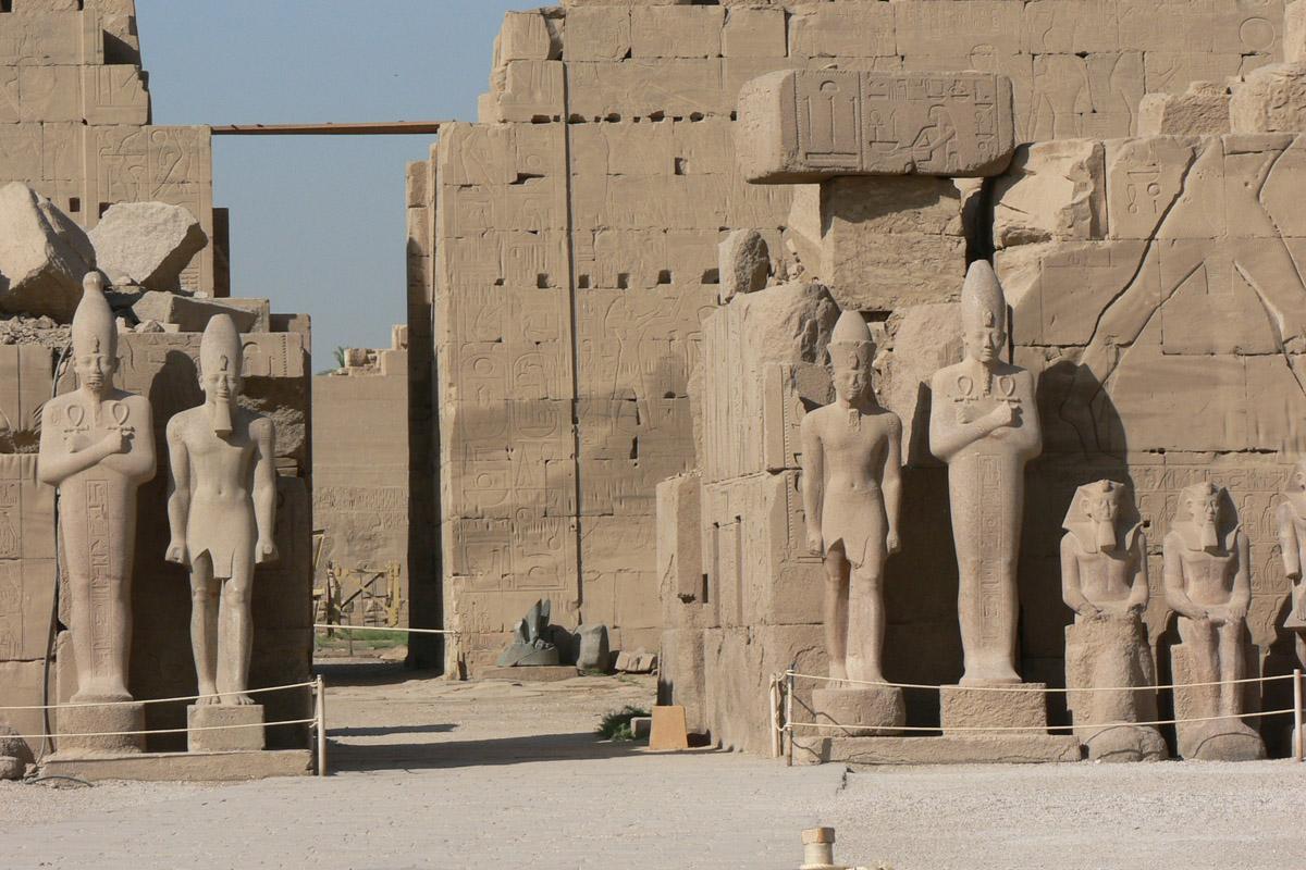Inside karnak temple near luxor egypt