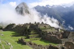 One Foggy Morning at Machu Picchu