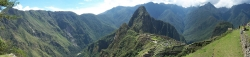Long Panorama View of Machu Picchu