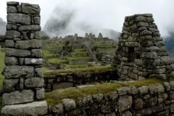 View of the Residental Section of Machu Picchu