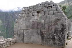 Up Close Shot of a Wall at Machu Picchu