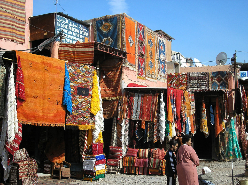 Marrakech Morocco  City pictures : Nice Colorful Carpets at Marrakech, Morocco