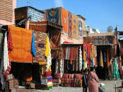 Nice Colorful Carpets at Marrakech, Morocco