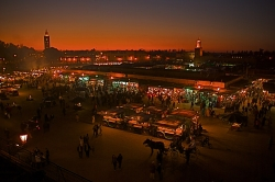 Marrakech Square at Night