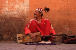 Street Musician at Marrakesh