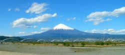 Clear Blue Sky of Mt Fuji