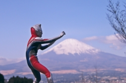 Ultraman and Mt Fuji=Japan