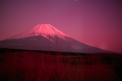 Red View From The West Near the Boundary Between Yamanashi and Shizuoka Prefectures
