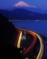 Yui Shizuoka, From Right to Left: Suruga Bay, Tomei Expressway, National Route 1, Tokaido Main Line
