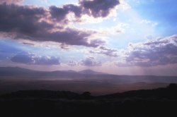 Purple Sky at the Ngorongoro Crater