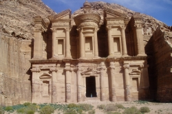 Direct View of Monastery at Petra