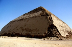 Bent Pyramid Second Attempt by Snefru, built in 2600 B.C. 344 feet