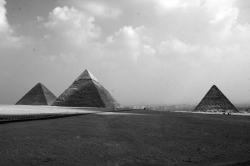 Great Pyramids of Giza in Black & White