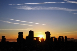 Sun Rising Over Stonehenge on the Summer Solstice on June 21 2005