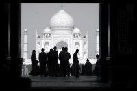 Taj Mahl Celebrate in Black & White