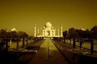 The Taj in Sepia