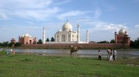 View of Taj From the River Yamuna
