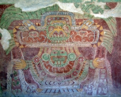 Mural of the Great Goddess of Teotihuacan