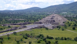 View of Pyramid of the Moon at Teotihuacan From the Pyramid of the Sun