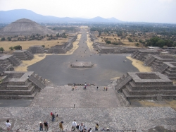 Full View of the Avenue of the Dead at Teotihuacan From The Pyramid of The Moon