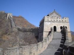 View of the Great Wall at Mutianyu near Beijing