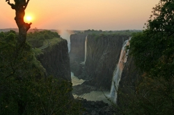 Another Sunset View of Victoria Falls
