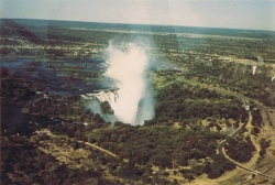 View of Victoria Falls From the Sky in 1972