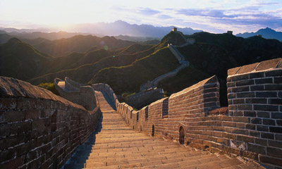 The Great Wall of China With Beautiful Sky View