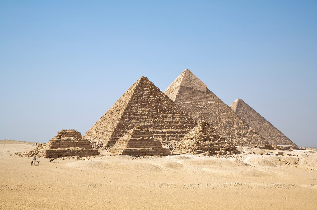 From the Right: Khufu (biggest), Khafre & Menkaure Pyramids