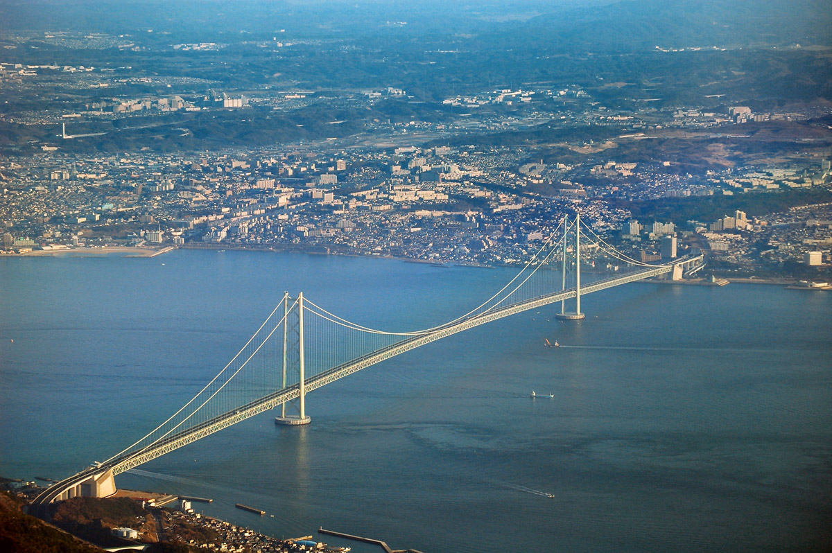 Akashi Kaikyo Bridge Pictures, Facts &amp; Length -