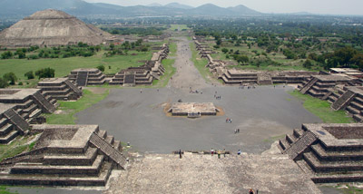 Teotihuacan View From The Pyramid of the Moon