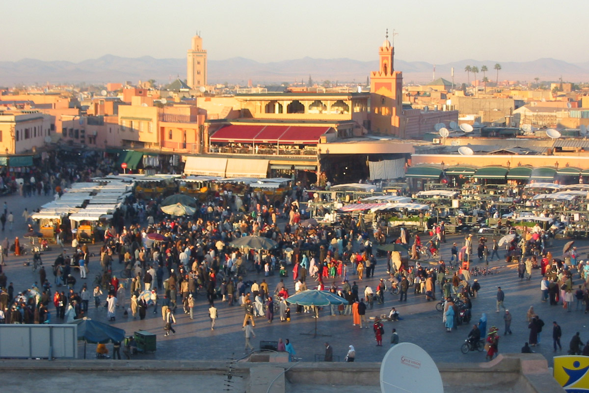 Marrakech Morocco  City new picture : Main Public Square at Marrakech, Morocco