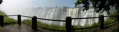Victoria Falls With Bridge