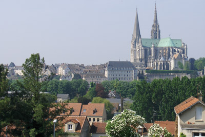 Chartres Cathedral from a distance