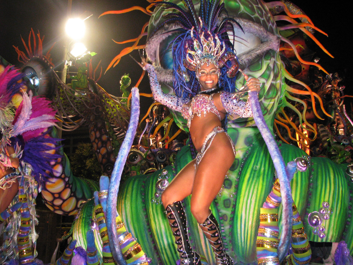 Isabel, a dancer from the Brazilian Carnival in Rio, Brazil