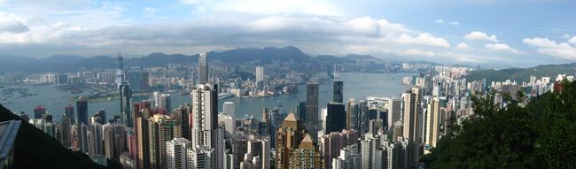 Hong Kong Harbor taken from Victoria Peak